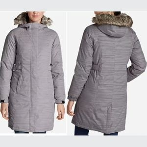 Eddie Bauer Superium Stadium Parka in Gray Stripe